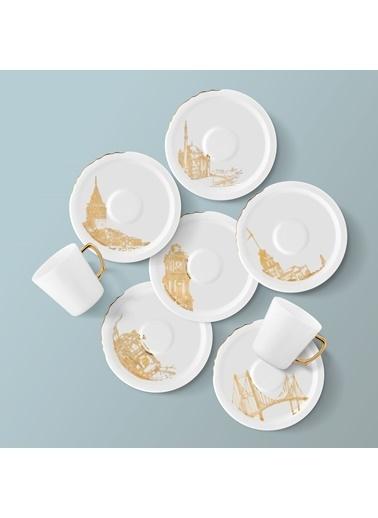 Koleksiyon Eser-i İstanbul Çay Fincanı Seti 6'lı Renkli